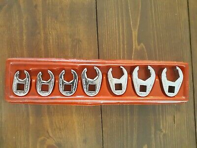 Snap On Tools 207SFRH 3/8 Dr 7pc SAE Flare Nut Crowfoot Wrench Set 3/8 - 3/4
