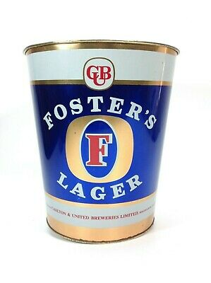 Rare Fosters Lager Advertising Ice Bucket / Bin Made by Willow Australia
