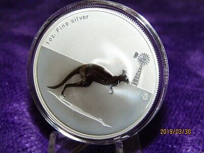 F15 Privy 2012 Perth Mint  Kangaroo  at Sunset 1 oz fine Silver