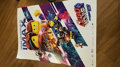 """THE LEGO MOVIE 2 Official 13"""" x 19"""" PREMIERE NIGHT IMAX White Promo Poster"""