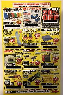 3 x 20% Off HARBOR FREIGHT LOWES HOME DEPOT Purchase & MORE