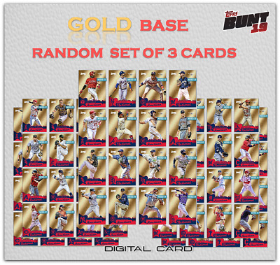 2019 ALL STAR GAME GOLD BASE SET OF 3 CARDS Topps Bunt Digital Card