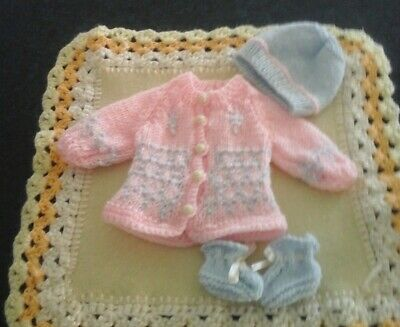 Hand Knitted Small Dolls Clothes