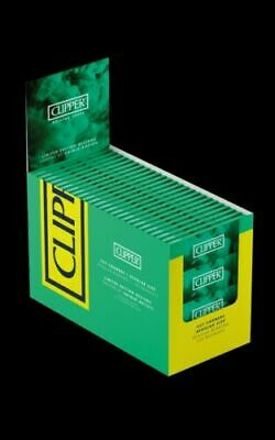 100 Packs Clipper Green Rolling Papers Full Box Cut Corner Cigarette Papers£8.39