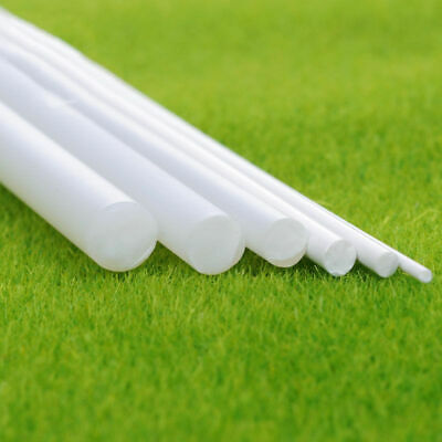 White ABS Plastic Rod Round Solid Bar DIY Model Material 250mmx5/10/15mm