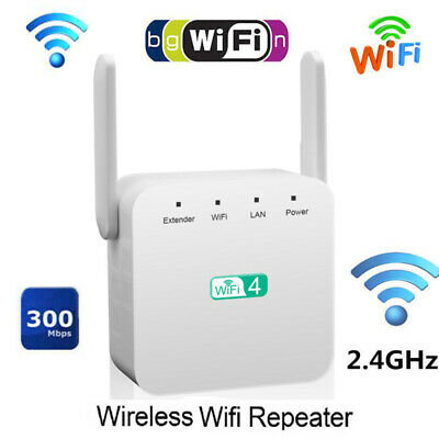 300Mbps Wifi Repeater 802.11 AP Router Wireless-N Extender Signal Booster Range