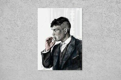 Peaky Blinders Tommy Shelby Boss Gangster Police Retro Vintage Poster Wall Art