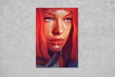 The Fifth Element Future Leeloo Korben Dallas Love Taxi Vintage Poster Wall Art