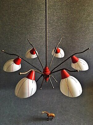 VINTAGE STILNOVO 50s CHANDELIER STYLE MID MOD DECOR DESIGN MADE IN ITALY