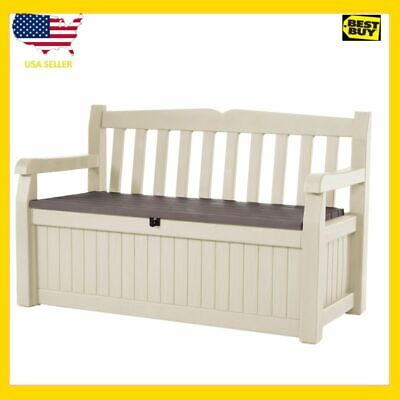 Superb Keter Eden Outdoor Resin Storage Bench All Weather Plastic Gmtry Best Dining Table And Chair Ideas Images Gmtryco