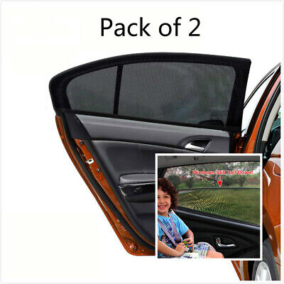Universal 2 pcs Black Car Rear Window UV Sun Shades Blind Sunshade Sun Blocker