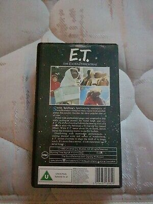ET The Extra Terrestrial Vhs Video Tape