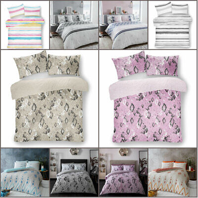 Luxury Duvet Cover with Pillowcase Polycotton Quilt Bedding Set Double King Size