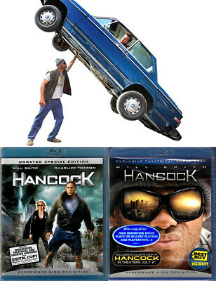 2-Disc Blu-ray Will Smith HANCOCK Theatrical+Unrated SE+SNEAK PEEK Cdn OOP A/B/C