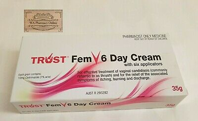Trust Fem V 6 Day Cream (Same As Canesten)Vaginal Thrush Treatment + *Free Gift*