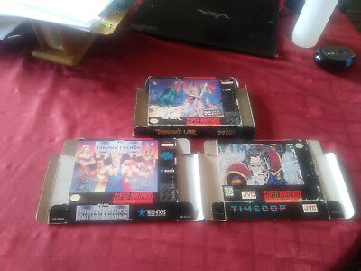 The Combatribes (Super Nintendo Entertainment System, 1993)box only +2 other box