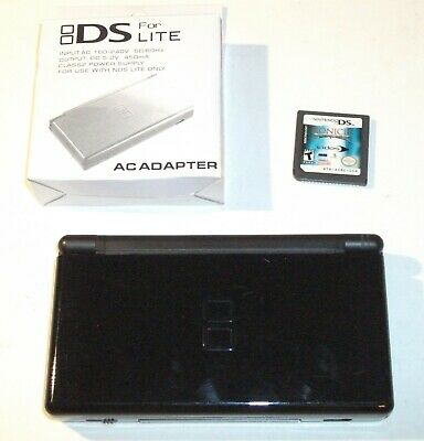 NINTENDO DS LITE SYSTEM Onyx/Black + Charger + Bionicle Heroes Game TESTED