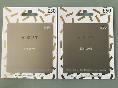 2 off £50 John Lewis Gift Cards. UK only expires July 2021 #Item 11