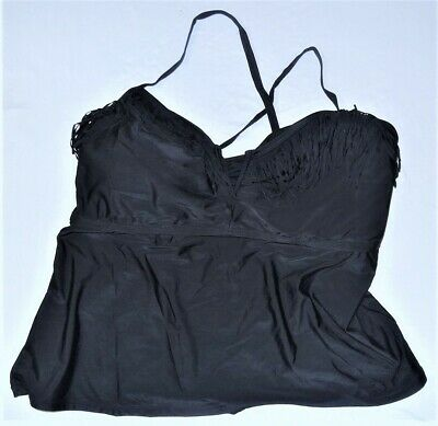 14a438ab1bc Catalina Womens Halter Tankini Top Size 2X Stretch Bathing Suit (18w-20w)