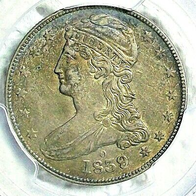 1839-O United States Capped Bust Reeded Edge Silver Half Dollar Pcgs Xf-45 L@@K