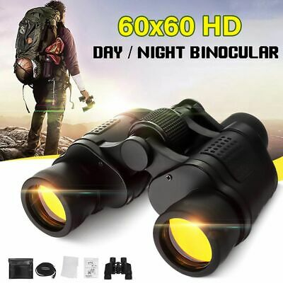Day/Night Vision 60X60 Zoom Outdoor HD Binoculars Hunting Telescope Camping
