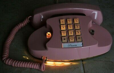 Western Electric Pink Princess Touch Tone 1974 Telephone - Restored - Lights Up!