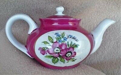 Antique Continental Russian Gardner Moscow Porcelain Teapot Hand Painted