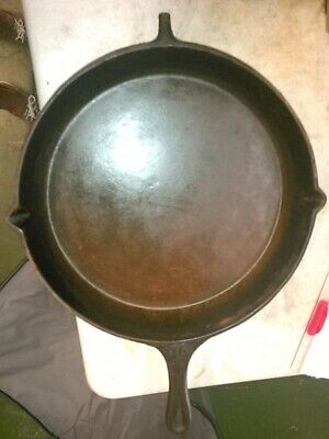Antique Cast Iron Skillet Frying Pan 1 Heat Ring Civil War 1800s as is