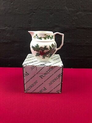 "Portmeirion Holly and The Ivy Milk / Cream Jug 3.75"" BOXED"