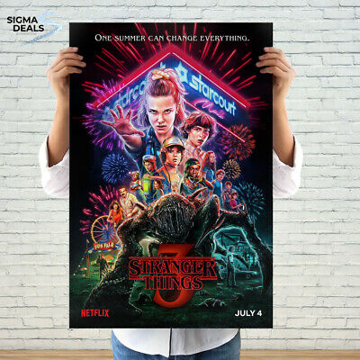 "Stranger Things Poster 2019 Movie TV Series size 11x17"" 16x24"" 24x36"""