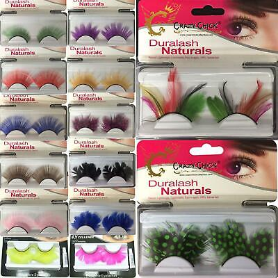New Womens Ladies Eye Lashes Makeup False Colorful Beauty Fake Party Fancy Dress