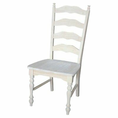International Concepts Unfinished Maine Ladder Back Dining Chairs - Set of 2,