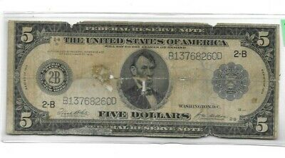 "$5 ""1914"" (Federal Reserve) $5 ""1914"" (Federal Reserve) $5 ""New York"" $5 1914"