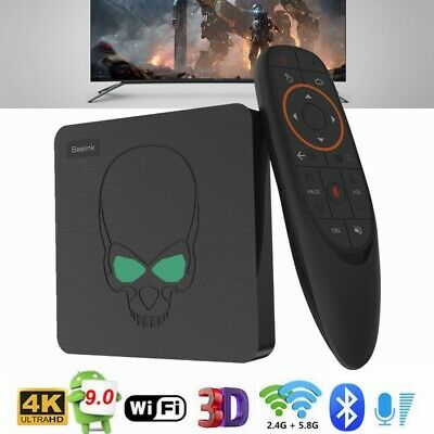 Beelink Gt-King Android 9.0 Smart TV Box Voz Remoto 4GB 64GB 4K Wi-Fi 1000Mbps