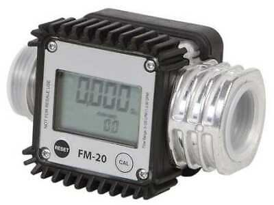 DAYTON 40M285 Flowmeter,Digital,1 In,1.3 to 32 gpm