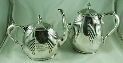 Victorian Silver Plated EPNS Batchelors Teapot & Coffee Pot Elkington 1888 DZX