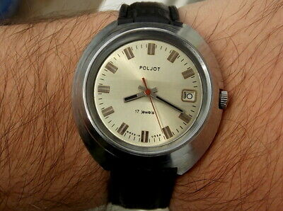"Massive,big vintage watch from 1970s,""triform"" dial,model with date"