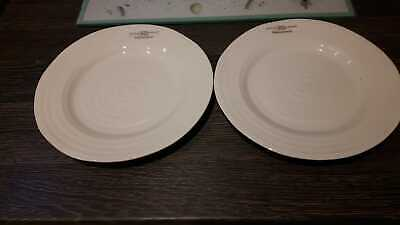"2  x PORTMEIRION SOPHIE CONRAN 8"" Salad Plates Off White - NEW WITH LABELS"
