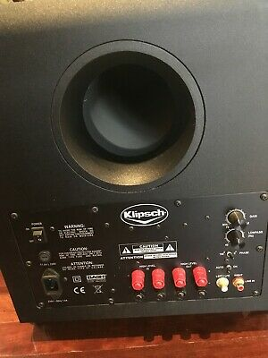 Home theatre klipsch sub 10 Subwoofer, as new with sub cable