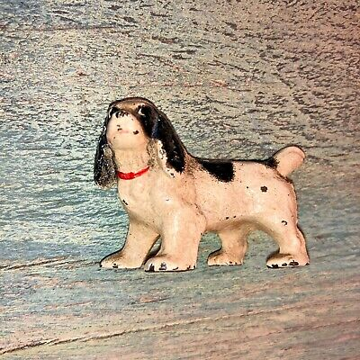 Antique Hubley Dog cast iron spaniel hunting pup paperweight figurine 2""