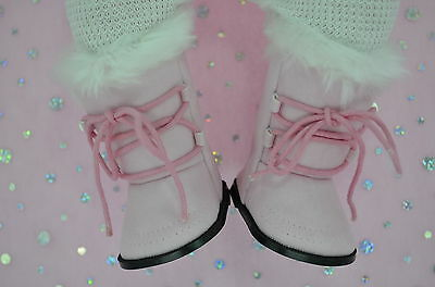 """Dolls Shoes For 17""""Baby Born~18""""American Girl  PINK WINTER BOOTS"""