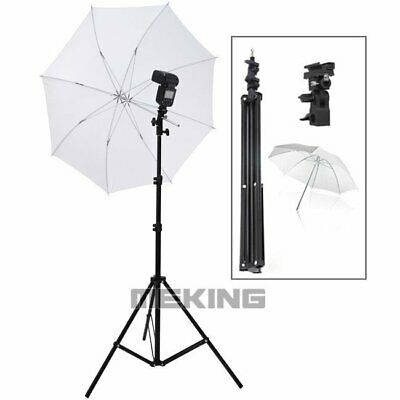 Light Stand + Flash Bracket Mount + Umbrella Speedlite Photo Studio Lighting Kit