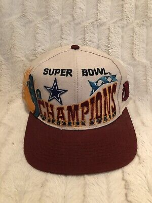 501ec2369716e8 Dallas Cowboys NFL Super Bowl Champions XXX Vintage Snapback Adjustable Hat