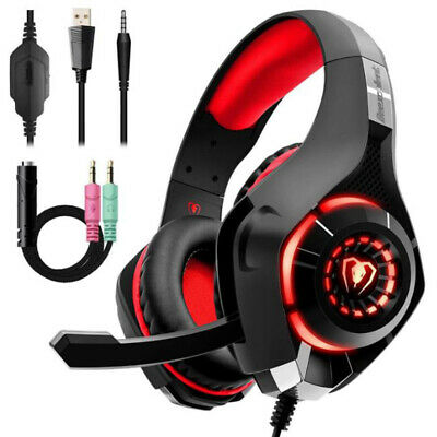 Stereo Gaming Headset for PS4 Xbox One, Beexcellent 3.5mm Bass Over Ear PC Gamin