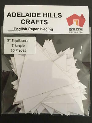 """50 x 3"""" Equilateral Triangle English Paper Piecing Laser Cut Quilting Sewing"""