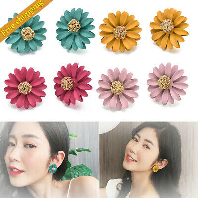 Style Sweet Charm Jewelry Big Flower Ear Stud Personality Temperament Earrings