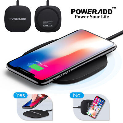 Qi Wireless Fast Charger Charging Pad for Samsung Galaxy Note 8 S8 S7 iPhone X 8