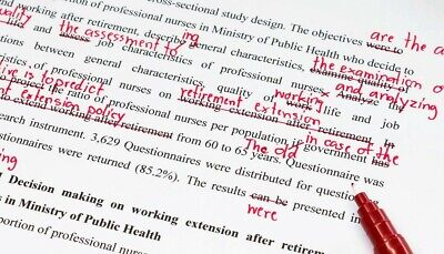 Proofreading and Editing (Max 2000 Words)