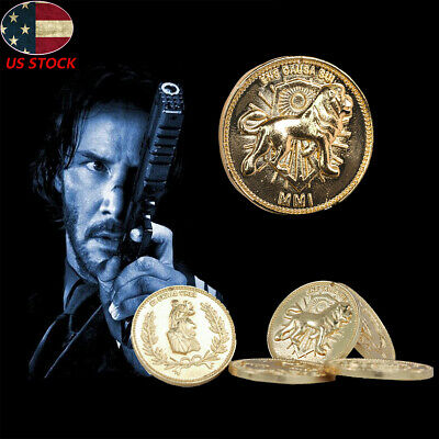 John Wick Continental Hotel Gold Coin Replica Costume Prop Movie High Quality