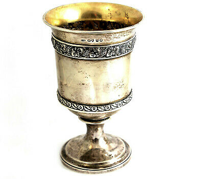 Antique Georgian George III Wine Drinking Cup Goblet London 1822 300g